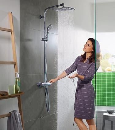 columna ducha sin grifo