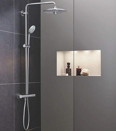 conjunto de ducha sin grifo